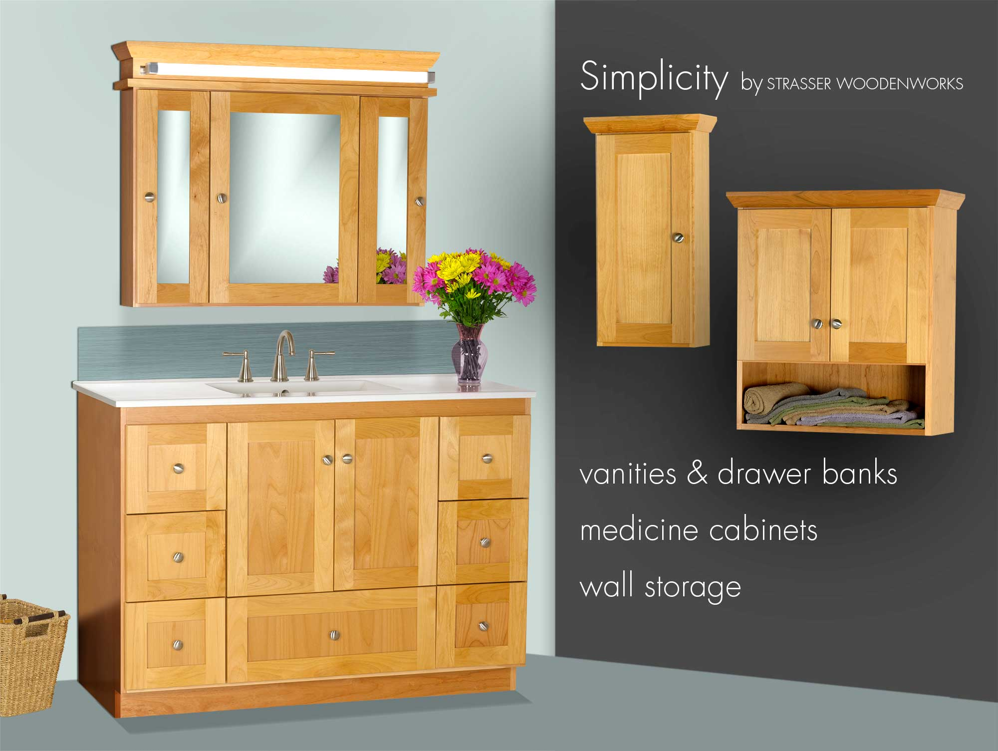 Bathroom cabinets made in the usa simplicity by strasser woodenworks Bathroom cabinets made in usa